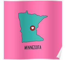 Minnesota State Heart Poster