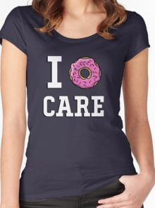 I donut care Women's Fitted Scoop T-Shirt