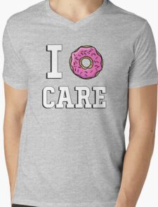 I donut care Mens V-Neck T-Shirt