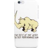 Wild Rhino Pencil Sketch iPhone Case/Skin