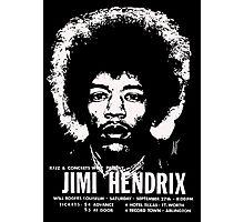 jimmy hendrix gig poster shirt Photographic Print