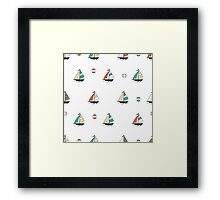 Color boats Framed Print