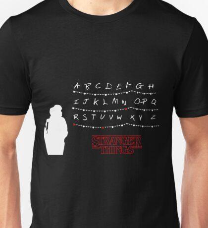 Stranger Things - Alphabet - Black Unisex T-Shirt