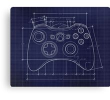 XBOX 360 Controller Top Blue Print Canvas Print