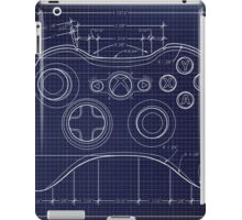XBOX 360 Controller Top Blue Print iPad Case/Skin