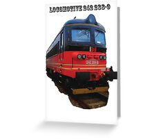 Electric Locomotive 242 288-9 Greeting Card