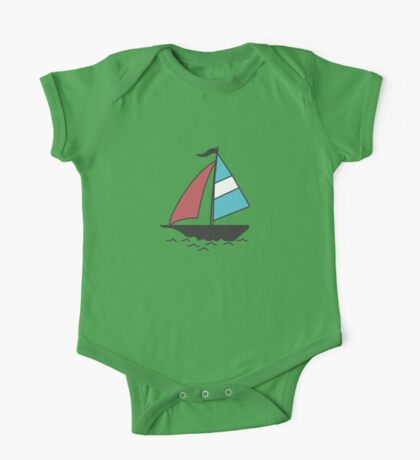 Color boats One Piece - Short Sleeve