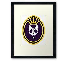 Murder Monarch (crowned) Framed Print