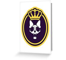 Murder Monarch (crowned) Greeting Card