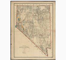 Vintage Map of Nevada (1894) Unisex T-Shirt
