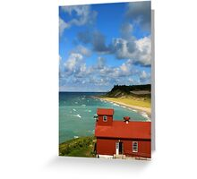 Fog Signal and Lakeshore Greeting Card