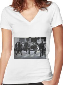 Rush time, 2012, 120-80cm, oil on canvas Women's Fitted V-Neck T-Shirt