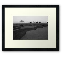 Circles in the sand - Face Rock  No. 3 Framed Print