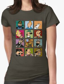tintin Womens Fitted T-Shirt