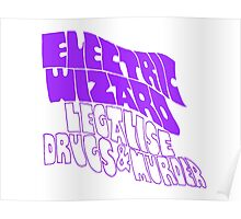 Electric Wizard - transparent Poster