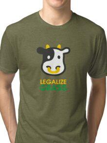 cow legalize the grass Tri-blend T-Shirt