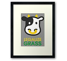 cow legalize the grass Framed Print