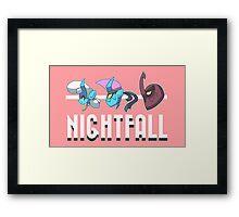 Nightfall Portrait Poster Framed Print