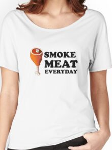 Eat Meat Everyday Funny Junk Food Fast Food Women's Relaxed Fit T-Shirt