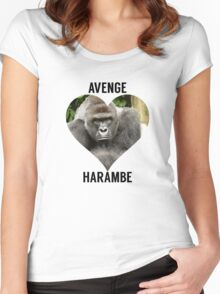 AVENGE HARAMBE Women's Fitted Scoop T-Shirt
