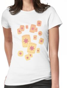 Floating Lanterns Gleam Womens Fitted T-Shirt