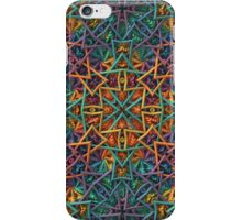 Colorful Geometric Fractal Pattern iPhone Case/Skin