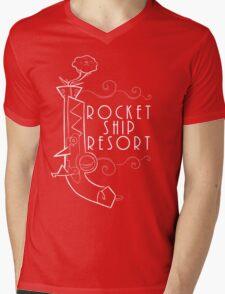 Rose Pistol Shirt Mens V-Neck T-Shirt