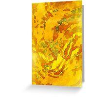 Abstract Yellow Sunshine Greeting Card