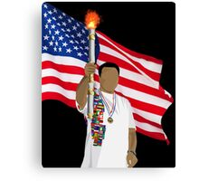 LIGHTING THE TORCH Canvas Print