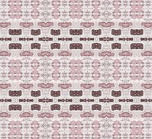 Burgundy, Mauve & Pink Abstract Design Pattern by Mercury McCutcheon