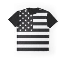USA Flag - Black Graphic T-Shirt