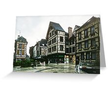 Place de Alexandre possibly Chalon sur Marne 198405060036 Greeting Card