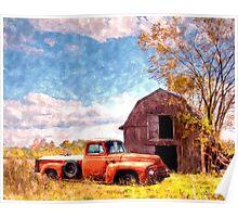 """""""Rural Americana"""" Poster"""