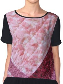 Quilted Flowers Chiffon Top