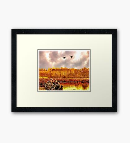 """""""Lessons of the First Hunt"""" Framed Print"""