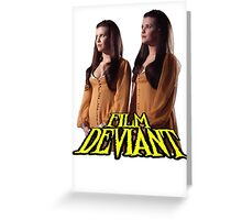 TWINS OF EVIL FD Variant Greeting Card