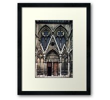 Open door to Cathedral St Etienne Chalons sur Marne France 19840506 0040 Framed Print
