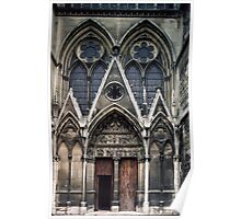 Open door to Cathedral St Etienne Chalons sur Marne France 19840506 0040 Poster