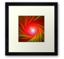 Die Rote Energie-Spirale Nr. 01 Framed Print