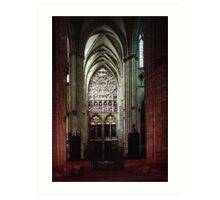 North Transept Cathedral St Etienne Chalons sur Marne France 19840506 0041 Art Print