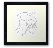 Custom Name in Circular Gallifreyan from Doctor Who  Framed Print