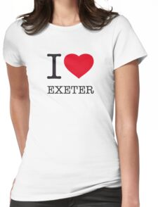 I ♥ EXETER Womens Fitted T-Shirt