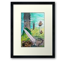 The feather and the Word Framed Print