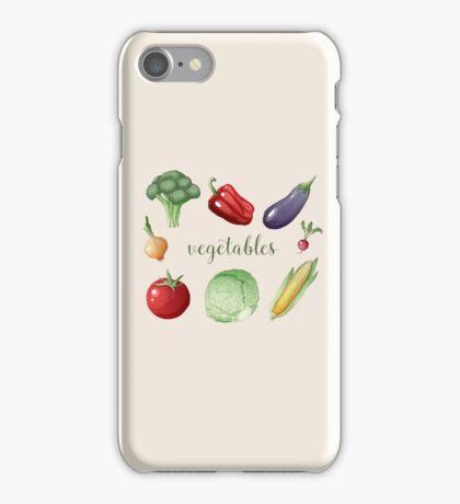 Vegetables Set in Vintage Style. Healthy Food iPhone Case/Skin
