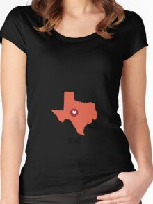 Texas State Heart Women's Fitted Scoop T-Shirt