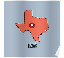 Texas State Heart Poster