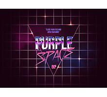 Purple Space 80s old school Design Photographic Print