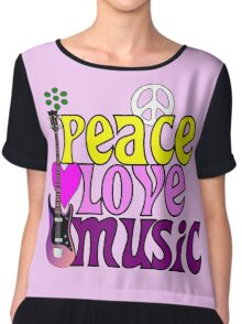Peace love and music hippie summer of love Chiffon Top