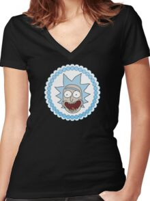 Circle Jerk Rick Sanchez Women's Fitted V-Neck T-Shirt