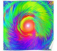 Regenbogen Energie-Spirale Nr. 02 Poster
